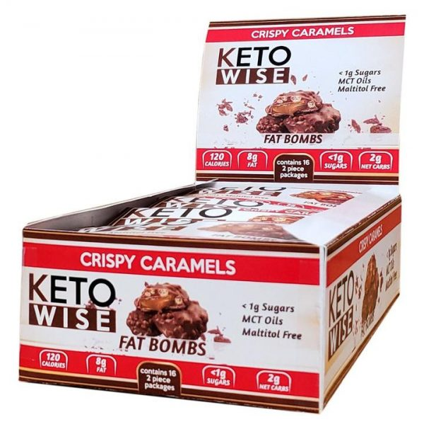 Keto Wise Crispy Caramel - Ketó súkkulaði og karamella