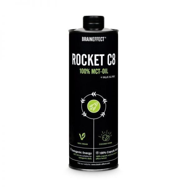 Bulletproof olía - 110% hrein C8 / MCT Olía frá Brain Effect
